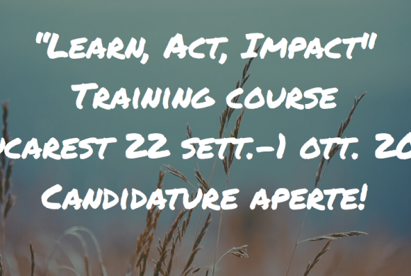 "Progetto ""Learn, Act, Impact"": candidature aperte!"