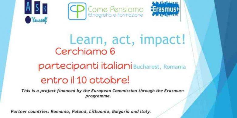 Progetto di Scambio LEARN ACT IMPACT a Bucarest