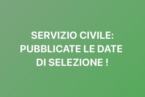 SELEZIONI SERVIZIO CIVILE!